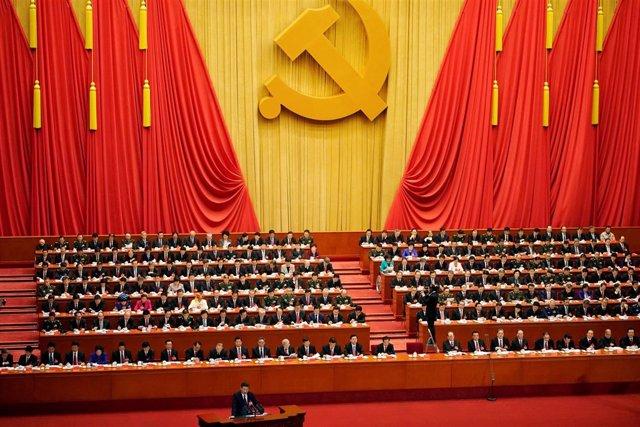 Xi Jinping habla ante el congreso del Partido Comunista chino