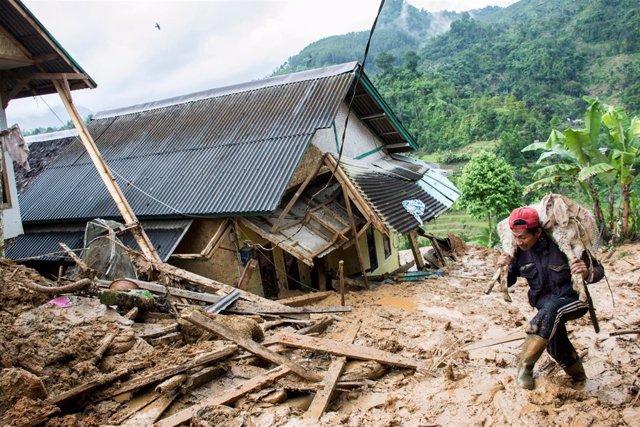 Corrimientos de tierra en Java, Indonesia