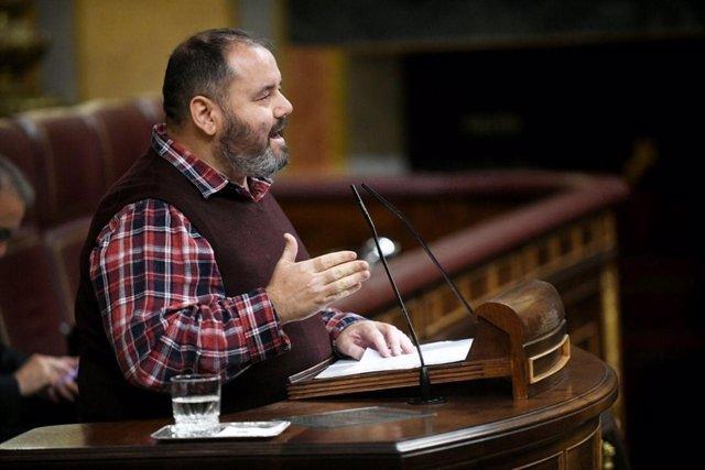 El portaveu dels comuns i diputat al Congrés, Joan Mena