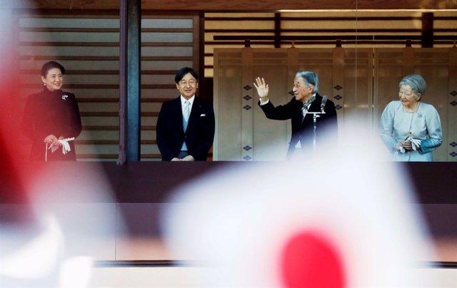 El emperador Akihito en su último saludo de Año Nuevo