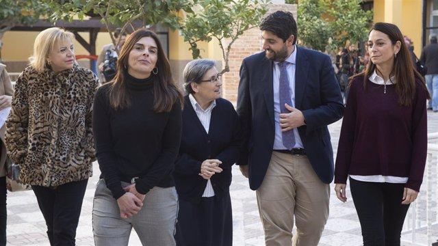 López Miras, Durante Su Visita Al Centro 'Cardenal Belluga'