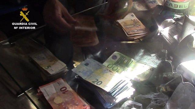 Dinero intervenido en la 'Operación Verlof'
