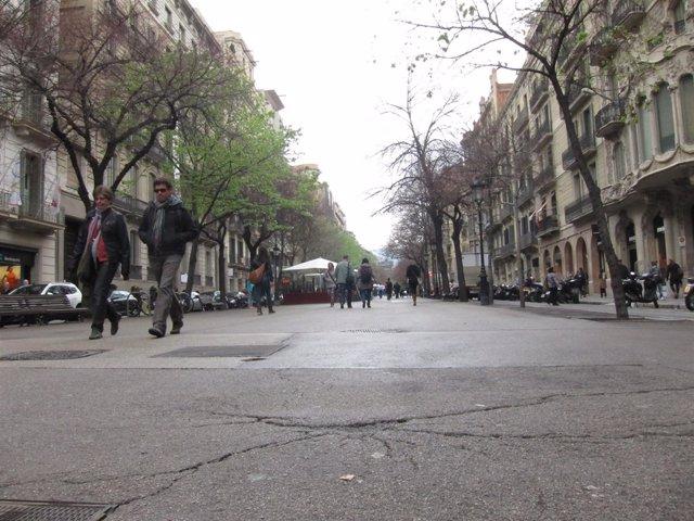 Paseo central de la Rambla Catalunya