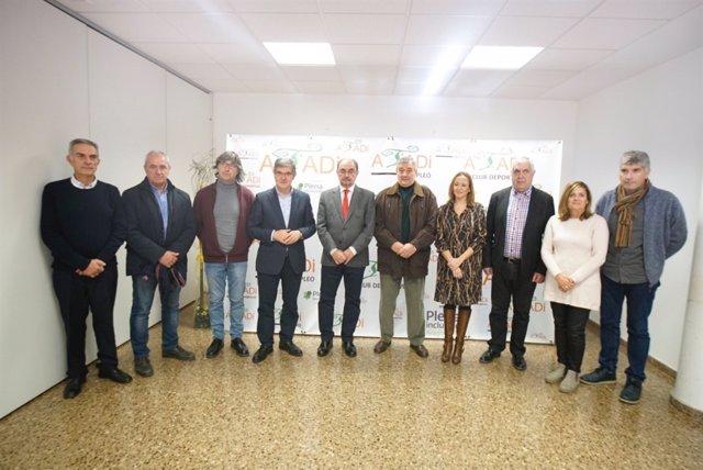 Lambán ha visitado hoy los centros de Atadi en Teruel