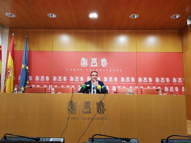 Rubén Ibáñez en rueda de prensa