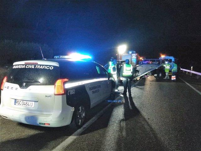 Accidente de tráfico ocurrido en la A-401, en Úbeda.