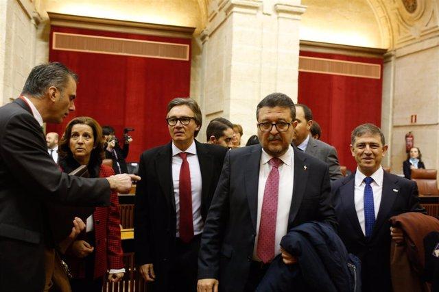 Sesión constitutiva del Parlamento andaluz de la XI legislatura.