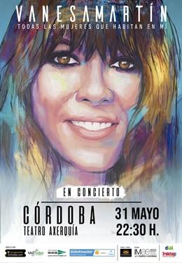 Cartel del concierto de Vanesa Martín en Córdoba