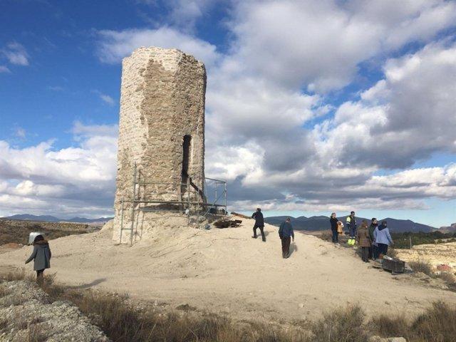 Castillo de la Torre Mocha en Calatayud (Zaragoza)