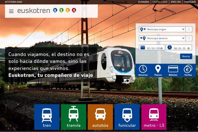 Página web de Euskotren