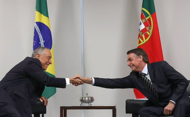Marcelo Rebelo de Sousa y Jair Bolsonaro