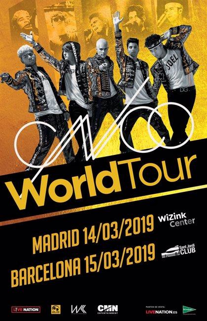 El grupo CNCO anuncia conciertos en Madrid y Barcelona