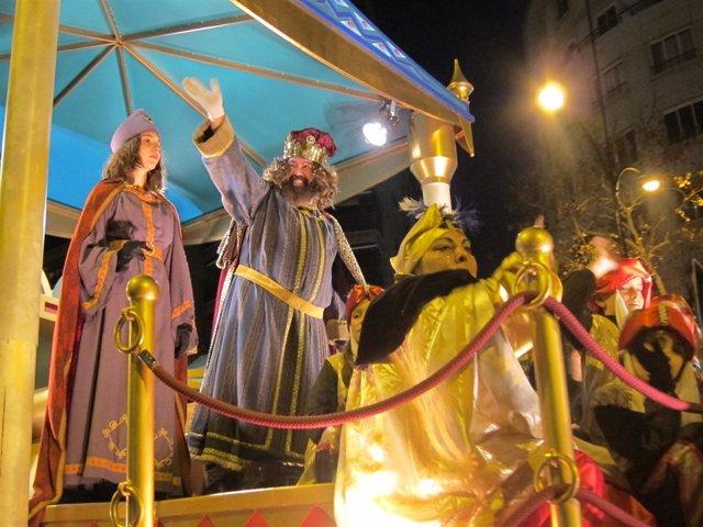 Rey Gaspar en la Cabalgata de los Reyes Magos