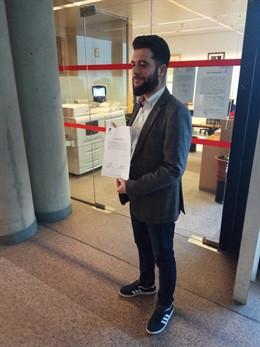 El portavoz adjunto de Cs, César Zafra, registra una petición de comparecencia