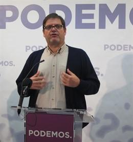 El diputado regional de Podemos Andrés, Pedreño