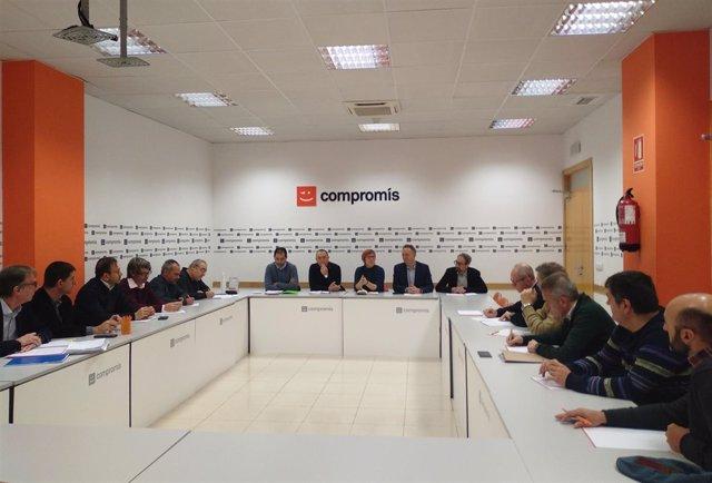 Reunión de Compromís con organizaciones agrarias
