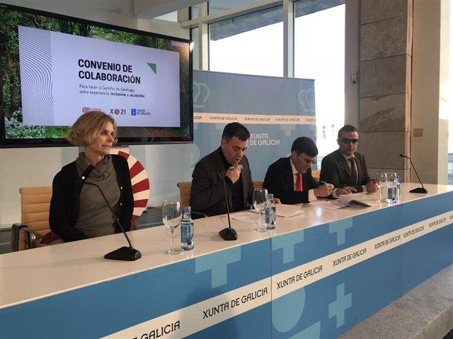 Firma convenio de colaboración entre la Xunta y la ONCE