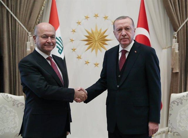 Barham Salih y Recep Tayyip Erdogan