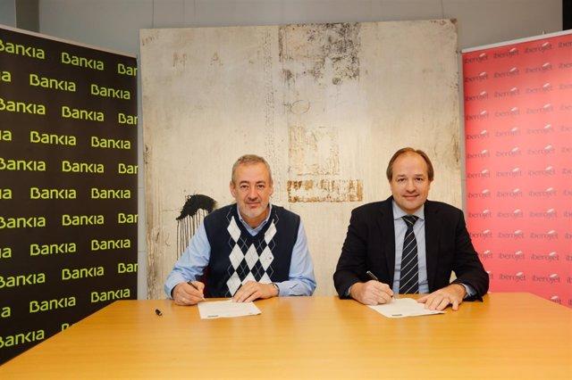 Antoni Serra, director corporativo de la Territorial de Bankia y Guillem Boscana