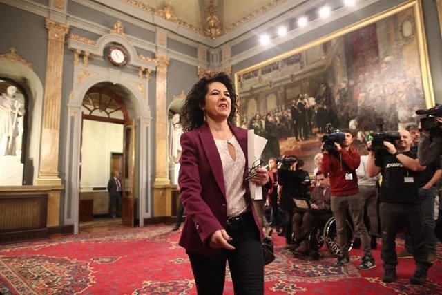 Maribel Mora en el Senado