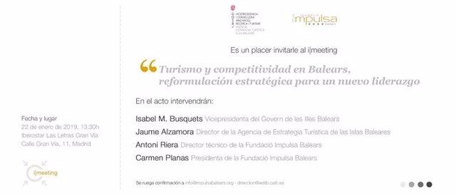 Invitación para el imeeting sobre Turismo y Competitividad en Madrid