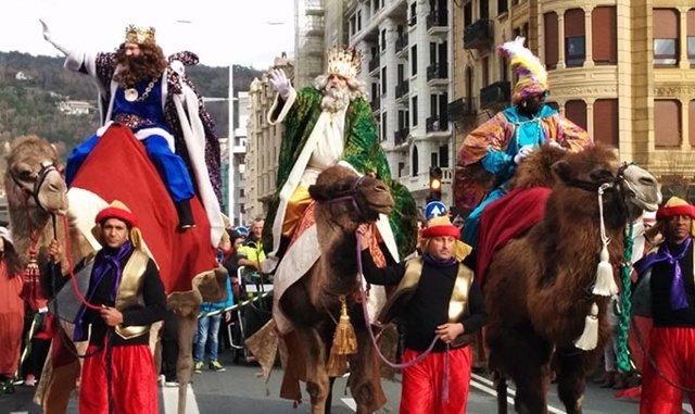 Cabalgata de Reyes Magos.
