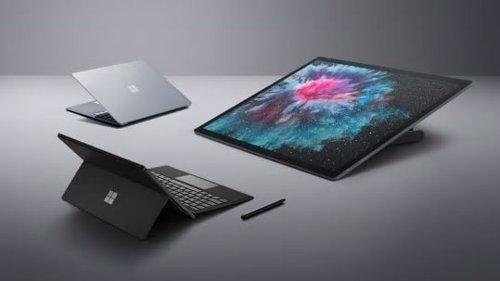 Surface Pro 6, Laptop 2 y Studio 2
