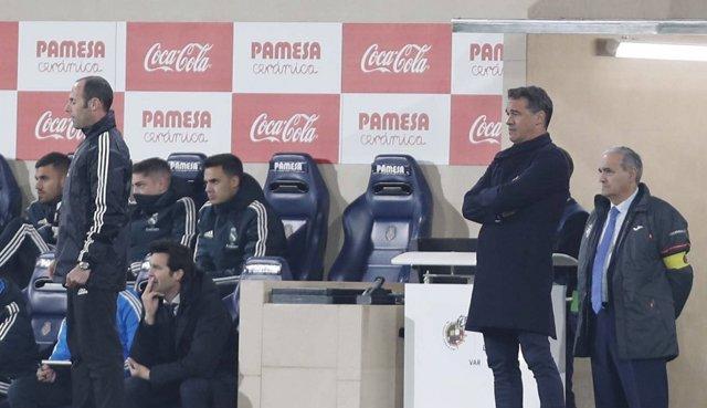 El entrenador del Villarreal, Luis García Plaza