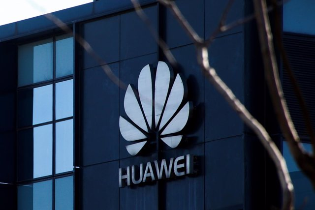 The company logo is seen at the office of Huawei in Beijing, December 6, 2018.