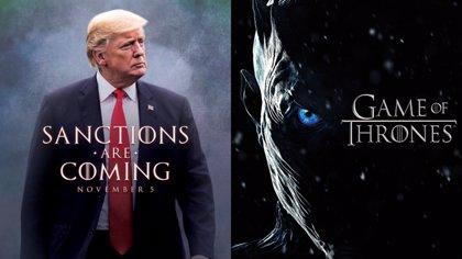 Donald Trump se hace un póster con meme de Juego de Tronos para reunirse con su gabinete