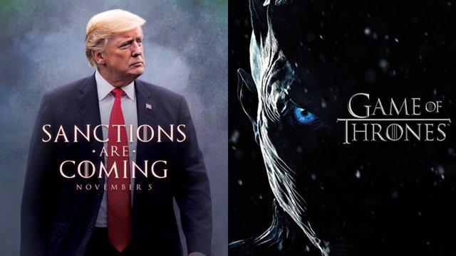 Meme de Donald Trum en Juego de tronos
