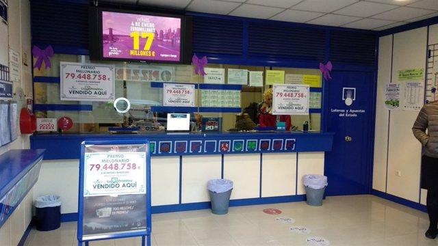 Administración de loteria en Tavernes que reparte 80 millones en la Primitiva