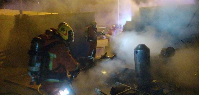 Incendio en una fábrica en Albal