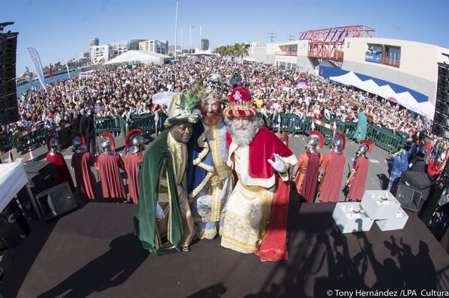 Los reyes magos en Las Palmas de Gran Canaria