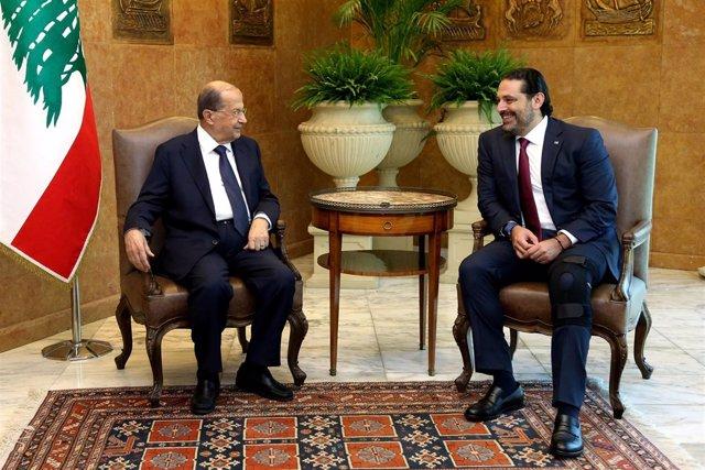 Michel Aoun y Saad Hariri