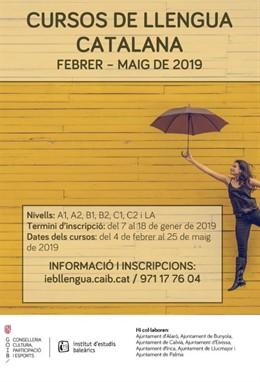 Cartel cursos de catalán