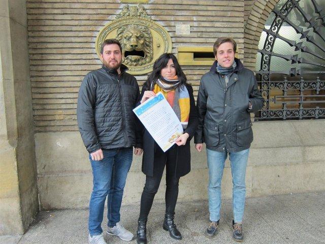 Gaudes, junto a Monforte y Ferrando con la carta a Reyes Magos de esta campaña
