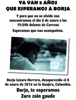 Concentración de apoyo a Borja Lázaro y su familia