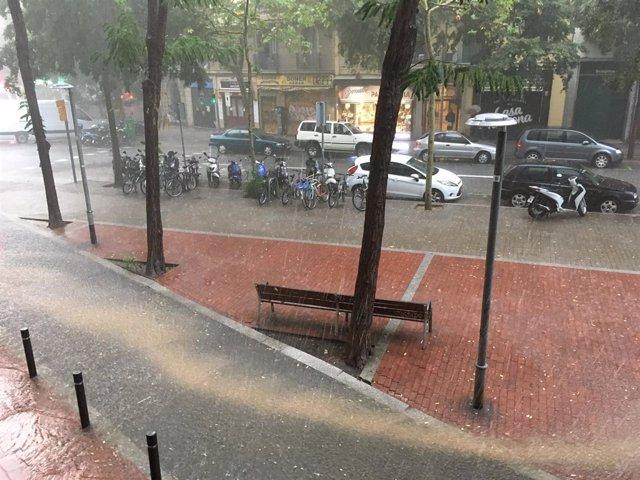 Lluvias en Barcelona en una imagen de archivo