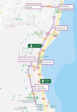 Infografía segundo tramo de la MetroGuagua