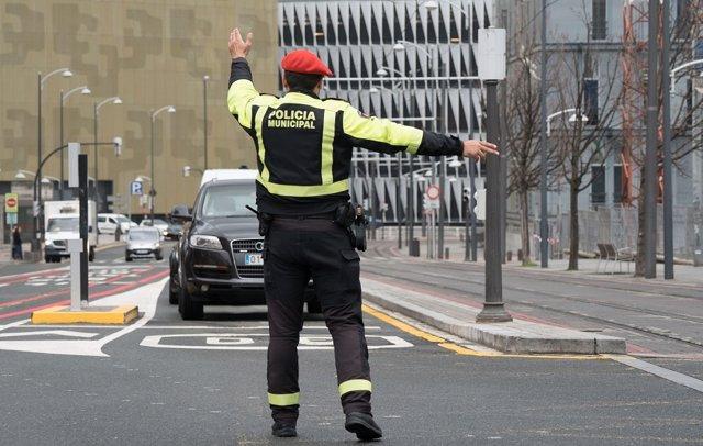 Corte de tráfico en Bilbao (archivo)