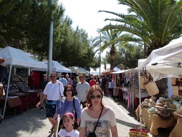 Feria y mercadito dela sepia de Alcúdia.
