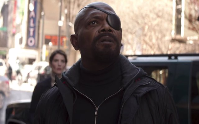 Nick Fury en Vengadores: Infinity War