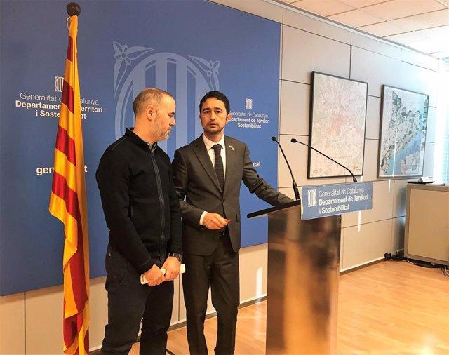 Eloi Badia (AMB y Ayuntamiento de Barcelona) conseller Damià Calvet