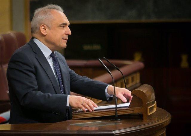 El secretario general del PSOE en el Congreso, Rafael Simancas, en el Pleno