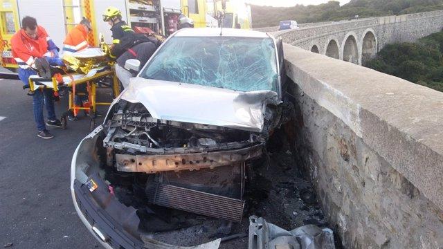 Accidente de tráfico en Tarifa este viernes, 4 de enero