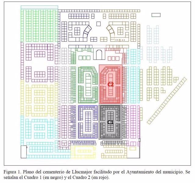 Plano del cementerio de Llucmajor