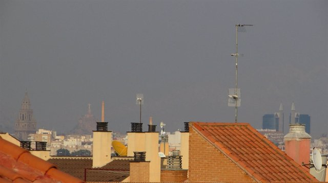 Fotografía de contaminación tomada por Ahora Murcia