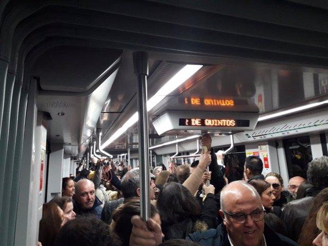 Aglomeración en el metro