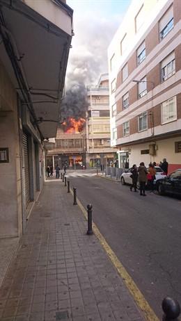 Incendio calle Ciruela